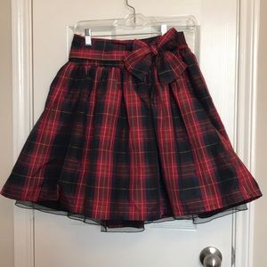 GAP Party Plaid Skirt